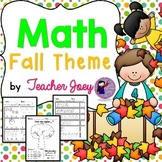 Fall Counting Worksheets
