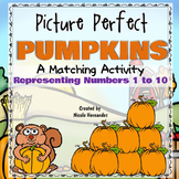 Matching Activity - Picture Perfect Pumpkins - Representing Numbers 1 to 10