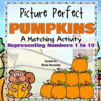 Matching Activity - Picture Perfect Pumpkins - Representin