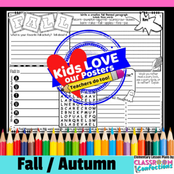 Fall Activity Poster: Fall Writing