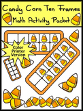 Fall Activities: Candy Corn Fall Ten Frames Halloween Math Activity - Color