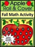 Fall Activities: Apple Roll & Cover Math Activity Packet - Color Version