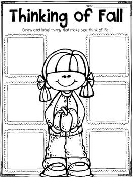 Fall Writing Printables, Activities, and Flipbooks