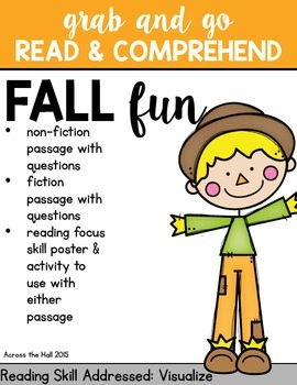 Fall Comprehension Activities