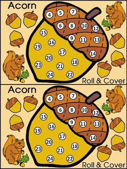 Fall Activities: Acorn Roll & Cover