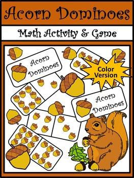Fall Activities: Acorn Dominoes