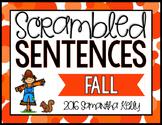 Fall Scrambled Sentence Station