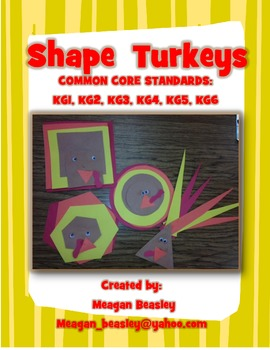 Fall 2D Shape Turkeys
