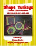 Fall 2D Shape Turkeys