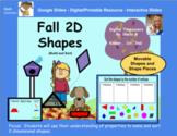 Fall 2D Shapes - Build and Sort Activities - Google Slides/Digital/Printable