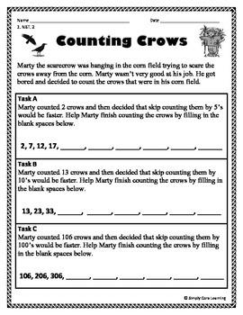 Fall 2nd Grade Common Core Math Assessment Task
