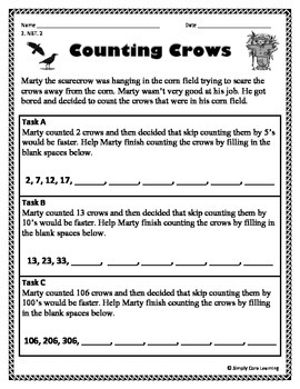 Fall 2nd Grade Common Core Math Assessment Task