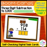 Fall 3-Digit Subtraction With and Without Regrouping BOOM™ Cards 2.NBT.7