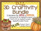 Fall 3D Craftivity Bundle (Apples & Pumpkins)