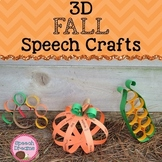 3D Fun Fall Speech Therapy Crafts {articulation language craftivities}
