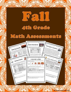 Fall 4th Grade Common Core Math Assessment Tasks
