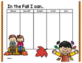 Fall 5 Senses Graphic Organizer
