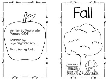 Fall - A Booklet With Activities About Things You See In The Fall