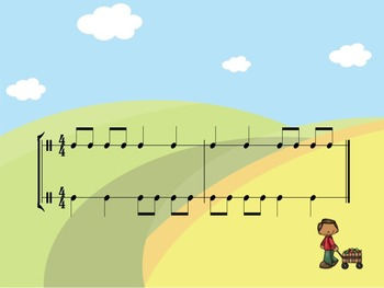Fall - A Two-Part Rhythm Challenge to Practice Quarter and Paired Eighth Notes