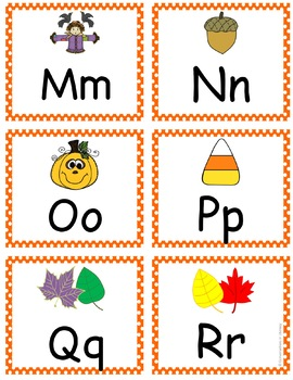Fall ABC Letter Card Exit Slips Freebie