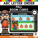 Fall ABC Letter Order (Boom Cards) (Distance Learning)