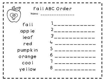 Fall ABC Order