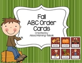 Fall ABC Order Cards