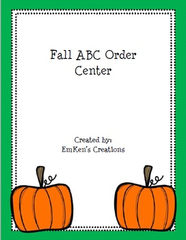 Fall ABC Order Center