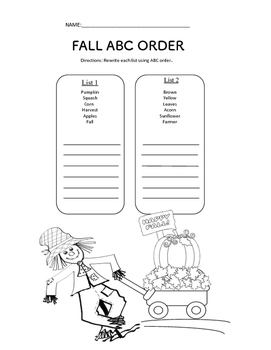 Fall ABC order.