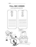 Fall ABC order.