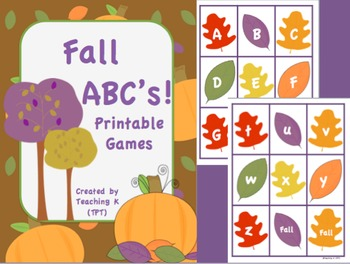 Fall ABC's Game Activities