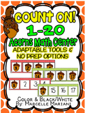 ACORNS MATH CENTER-ACORNS COUNTING-NUMBER SEQUENCE MATH CENTER