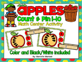APPLES- Counting apple seeds Math Center Game- Count the apple seeds and clip