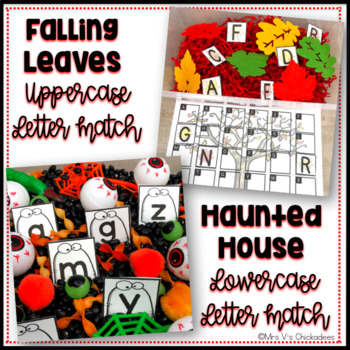 Fall Academic Sensory Bins: Letter ID, Numbers, Ten Frames & Shapes