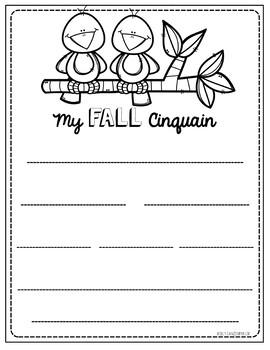 Fall Acorn Cinquain Poem Craftivity and graphic organizers