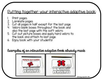 Fall Acorn Counting Adaptive Book (#1-10)
