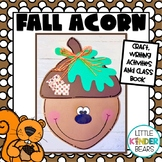 Fall Acorn Craft and Writing Activities