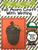 Fall Acorn Craft with Writing