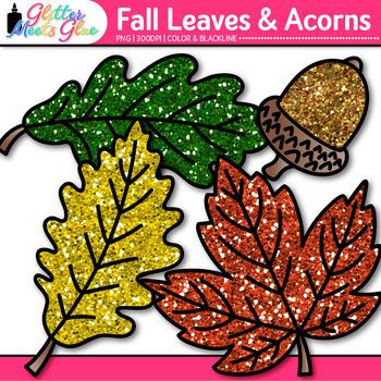 Fall Acorn & Leaf Clip Art {Fall Graphics for Back to School Classroom Decor}