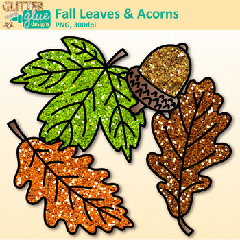 Fall Acorn & Leaf Clip Art | Fall Graphics for Back to School Classroom Decor