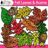 Fall Acorn & Leaf Clip Art: Autumn Graphics {Glitter Meets Glue}
