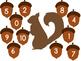 Fall Acorn Number Match File Folder Game