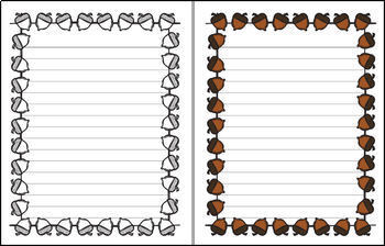 Fall - Acorn Single Line Paper (FREE)