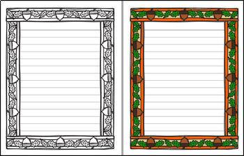 Fall - Acorn Single Line Paper (FREE)