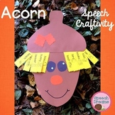 Fall Acorn Speech Craftivity {language & articulation craft}