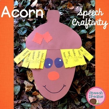 Fall Acorn Speech Craftivity {language & articulation craft}