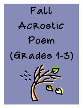 Fall Acrostic Poem