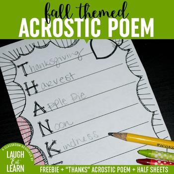 Fall Acrostic Poems {Freebie}