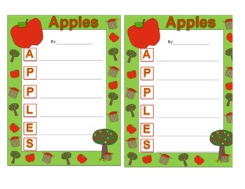 Fall Acrostic Poem Template Packet