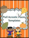 Fall Acrostic Poem Templates